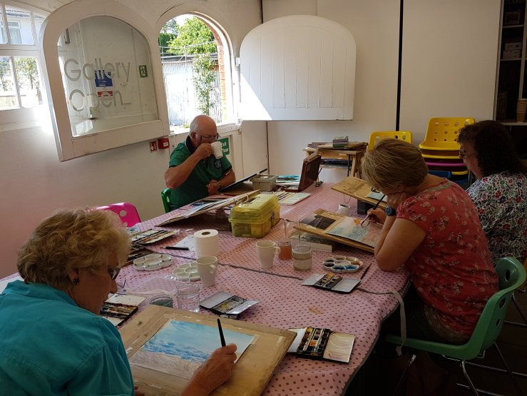 Watercolour with Kirstin White at Inspired & Create.