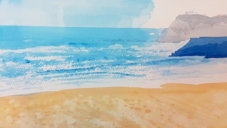 Beginners Watercolour Lessons in Sway