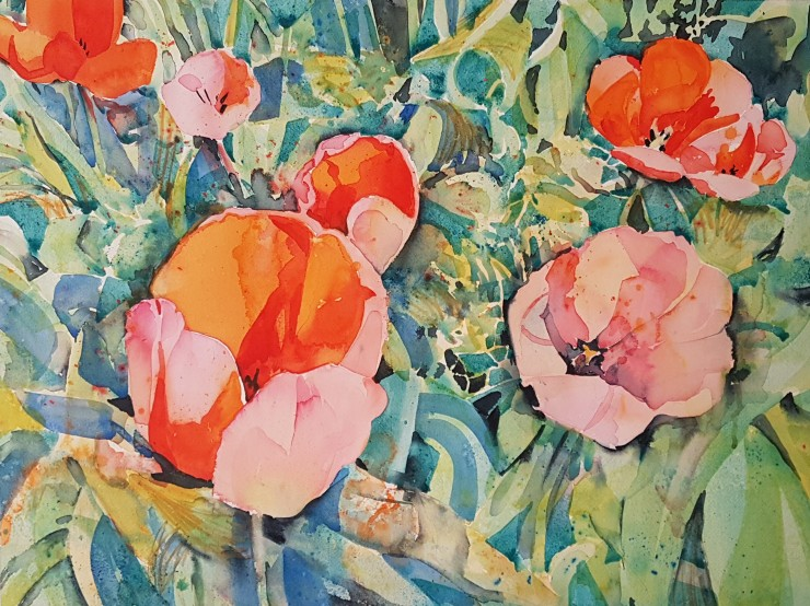 Kirstin White - Tulips in Watercolour