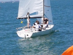J70 and crew, British Keelboat Academy Racing. 20180630_124221