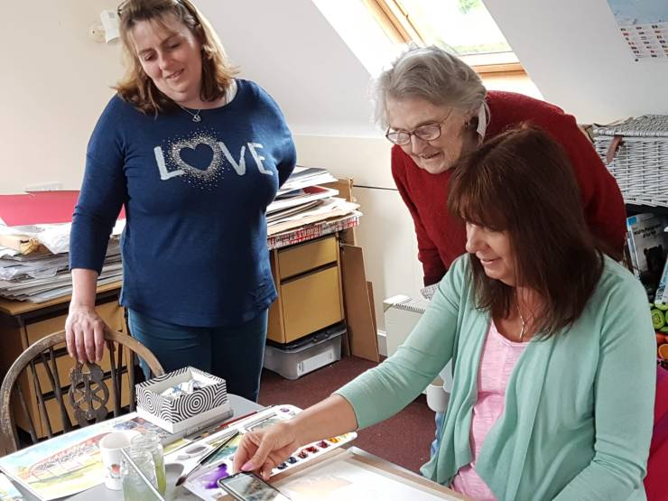 Dummer Afternoon Art Club in the studio with Kirstin White